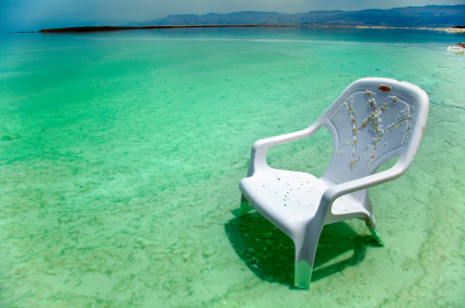 Easy Chair at the Dead Sea